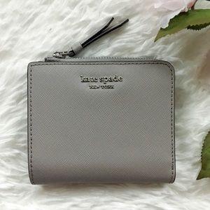 NWT Kate Spade Small L-Zip Bifold Wallet Cameron